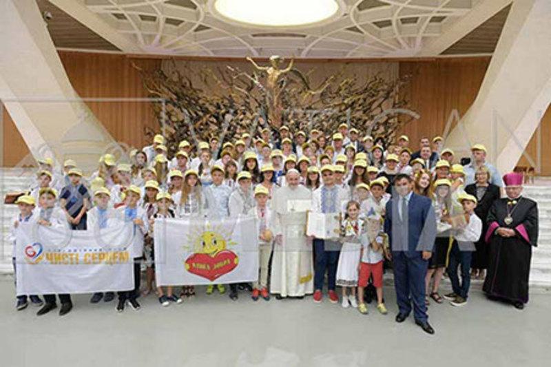 Українські діти зустрілися з Папою Римським
