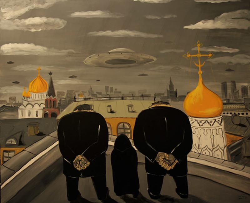 Російський художник зобразив Росію в сатиричних малюнках