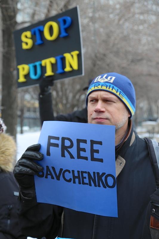 Українці Чикаґо у Міллєніум Парк - Free Nadiya Savchenko!