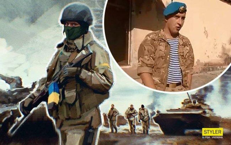 """Український військовий виконує пісню """"Ой, у лузі червона калина"""""""