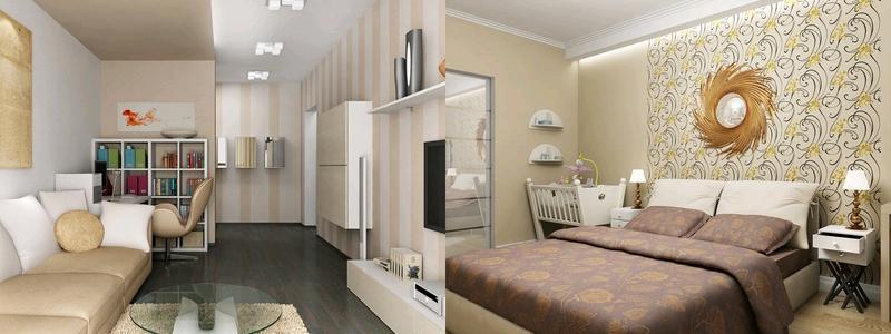 Ремонты дизайны 2-х комнатной квартиры