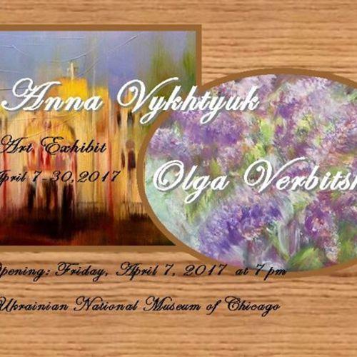 Art Exhibit by Olga Verbitska & Anna Vykhtyuk