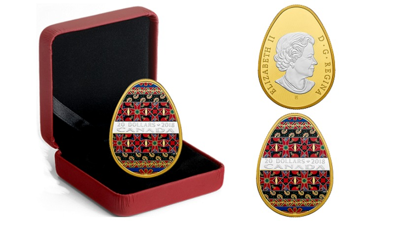Royal Canadian Mint issues coin in shape of Ukrainian pysanka