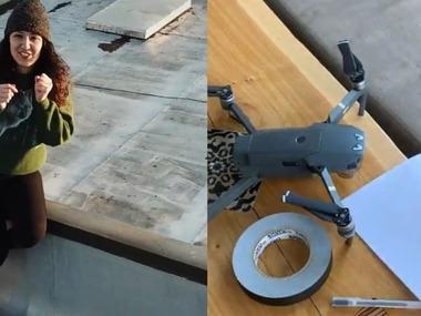 Дистанційна романтика: як за допомогою дрона хлопець запросив дівчину на побачення