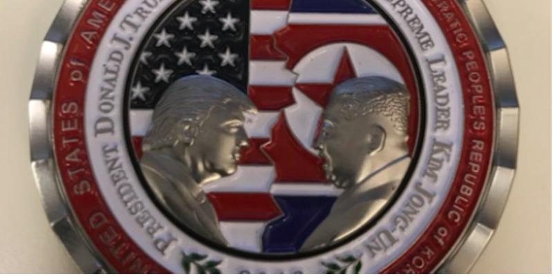 У США виготовили пам'ятну монету з Трампом і Кім Чен Ином