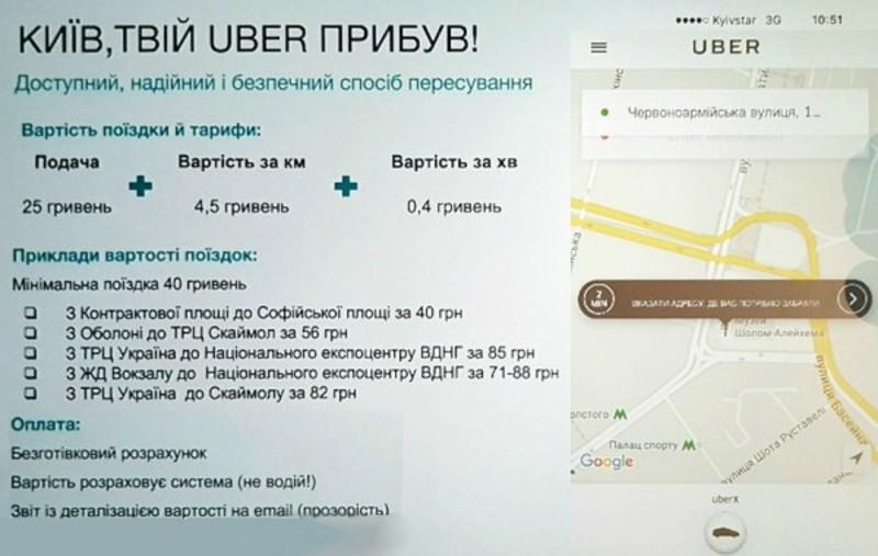 Перший день Uber в Україні: як це було