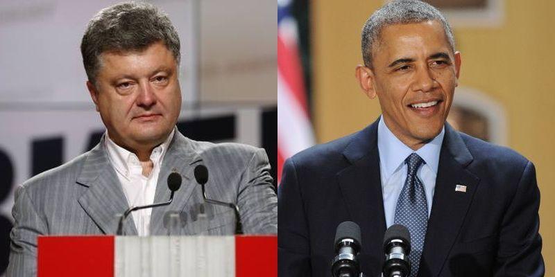 Відбулася телефонна розмова між Порошенком та Обамою