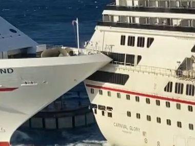 У Мексиці зіштовхнулися величезні лайнери. Відео