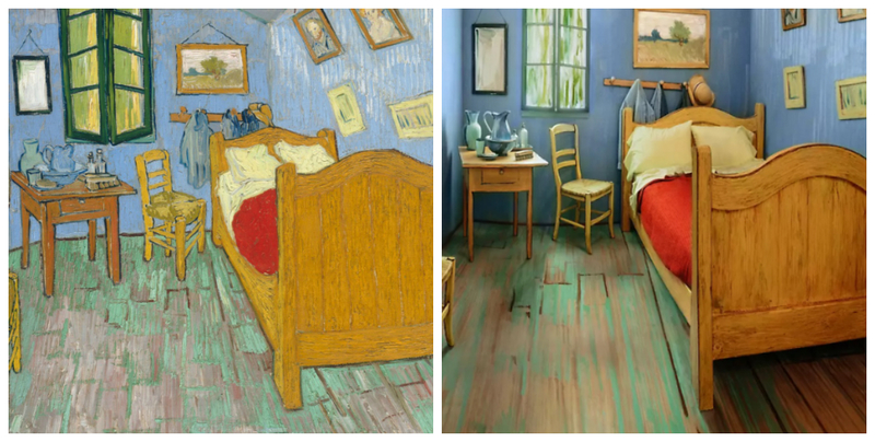 The Art Institute recreated Van Gogh\'s bedroom and listed it on ...