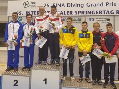 Українці вибороли чотири медалі на турнірі зі стрибків у воду в Німеччині