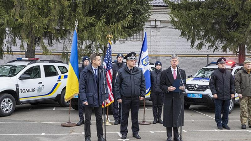 США передали українській поліції 88 нових авто