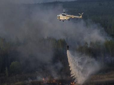 Площа пожежі в Чорнобильській зоні збільшилася