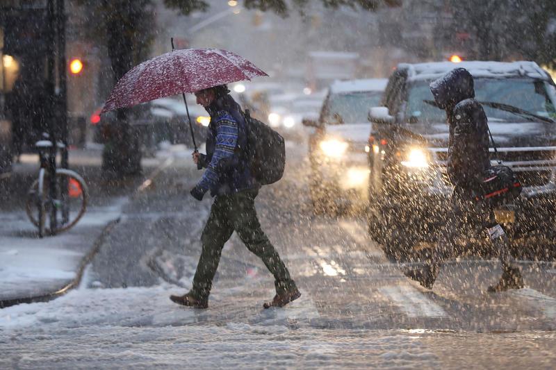 У Чикаго сьогодні очікуються сніг з крижаним дощем