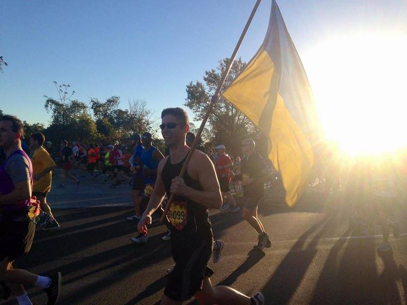 Одесит проніс український прапор  на американському марафоні