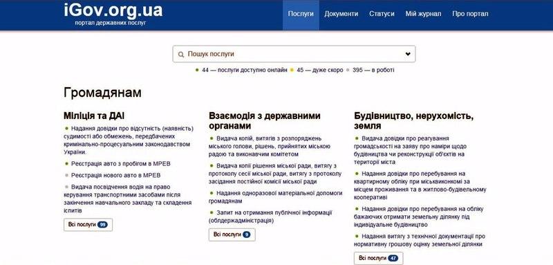 Українці відтепер можуть замовляти держпослуги онлайн