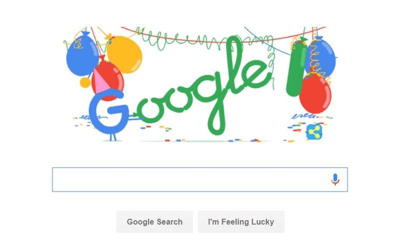 Сьогодні Google святкує «повноліття»