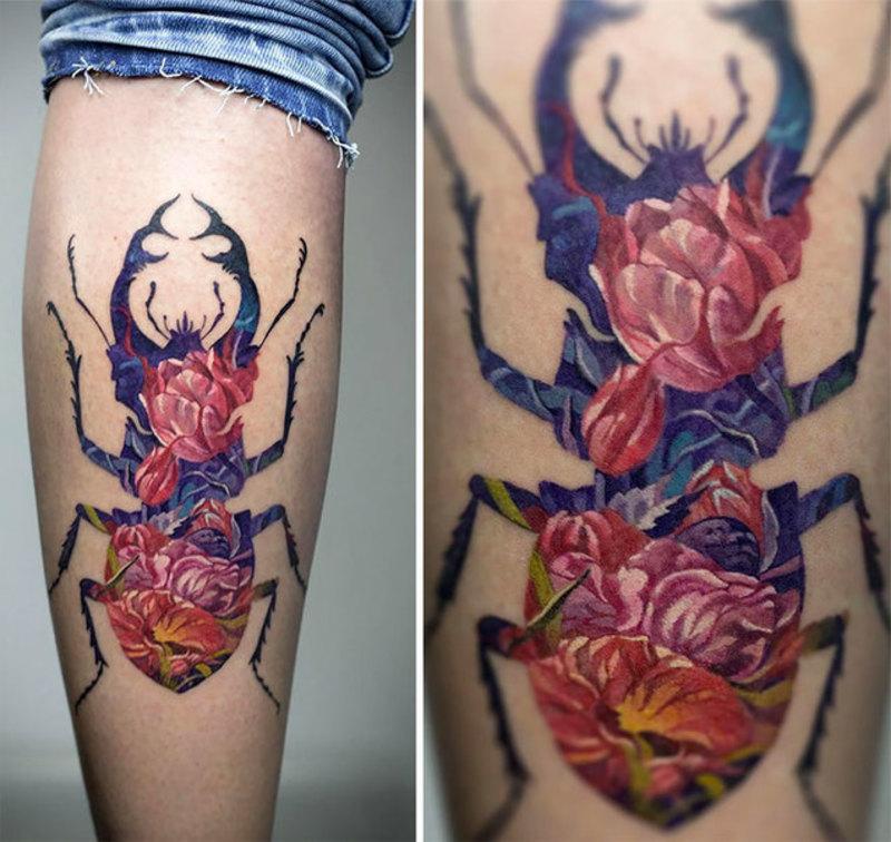 Український художник створює неймовірно красиві татуювання