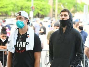Український баскетболіст взяв участь у протесті у США