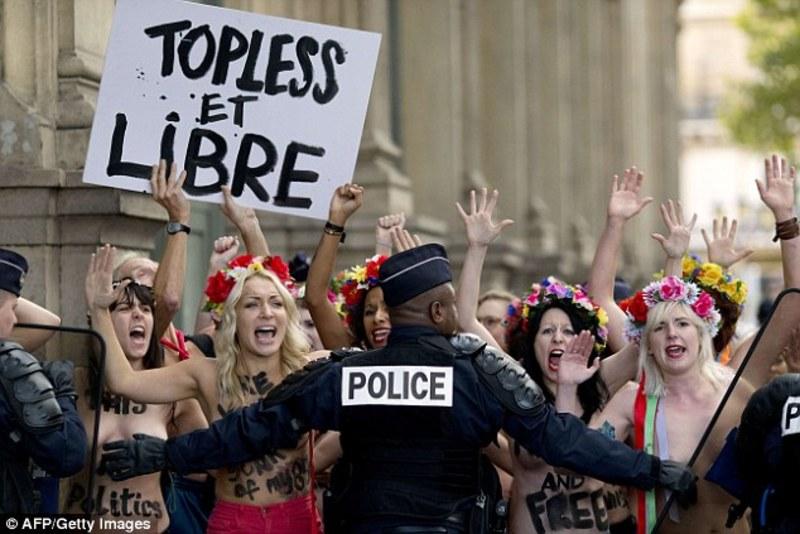 Поліцейський постраждав через FEMENісток