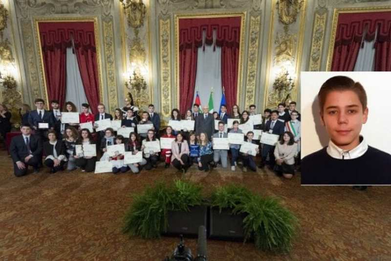 Український школяр отримав премію від президента Італії
