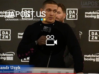 Usyk v Witherspoon. Press conference on October 10, 2019